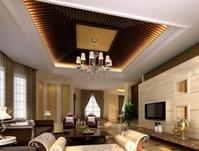 厦门高档公寓生态木吊顶案例 家庭装饰